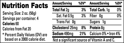Organic Ham Nutrition Facts